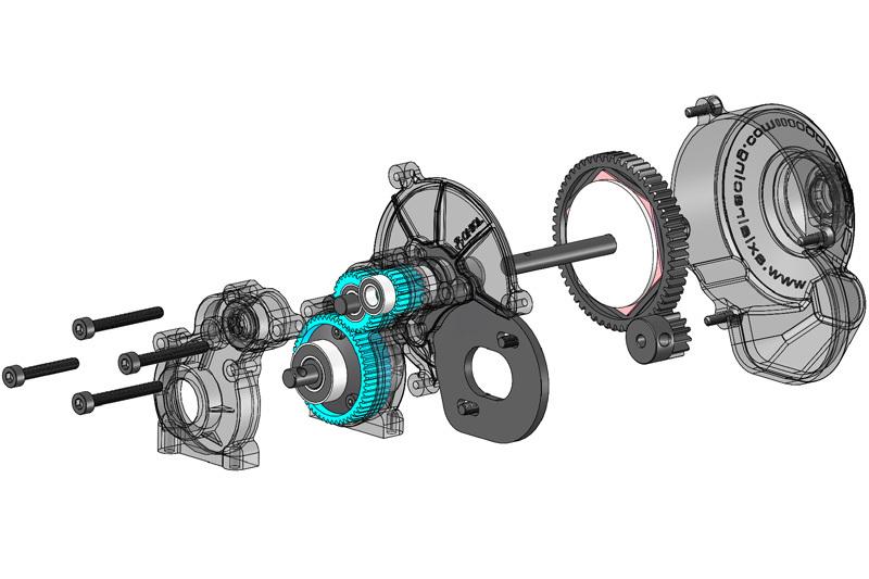 Axial MAX-D Jam Truck - AX10 Getriebe