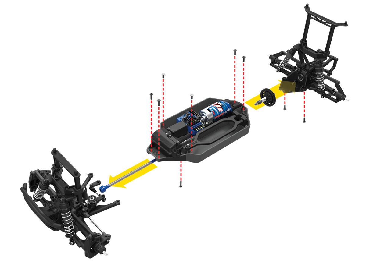 Traxxas Telluride - Modulare Bauweise