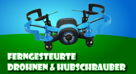Ferngesteuerte Drohnen und Hubschrauber